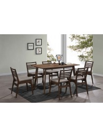 Dion Solid Rubber Wood 1+6 Dining Set