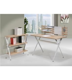 Antio Computer Table with Bookshelf