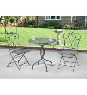 Lilio Outdoor Table with Two Outdoor Chairs