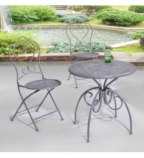 Reto Outdoor Table with Two Outdoor Chairs