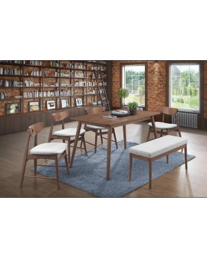 Doraz 1+6 Solid Rubber Wood Dining Set