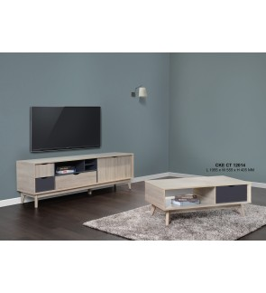 Rasomm 6 Feet TV Cabinet with Coffee Table
