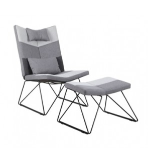 Airies Relaxing Chair with Stool