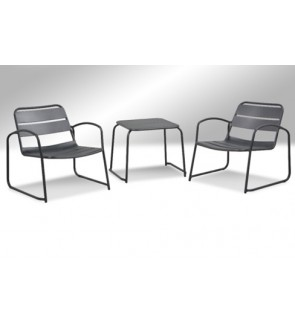 Topoz Steel Chair with Steel Table