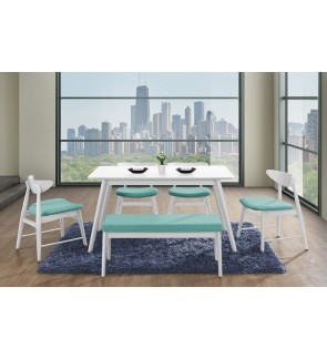 Whinny White Dining Table L140cm x W80cm x H75cm