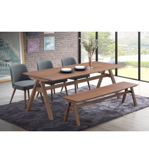 Cantone 1+6  Solid Rubber Wood Dining Set