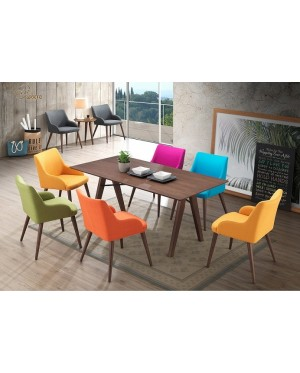 Ofion 1+6 Solid Rubber Wood Dining Set
